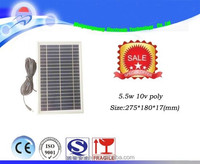 156x156 solar cell 5.5w 10v poly solar panel price with light