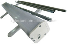 Hot sale Upgraded Economical Plastic Steel Roll Up Stand with iron side cover