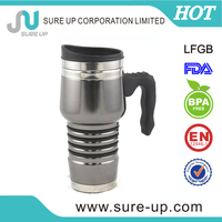 insulated double wall cup with silicone lid