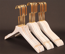 KINIDA Natural wooden angled coat clothes hangers with non slip bar and notches for suits, tops, shirts, dress, trousers