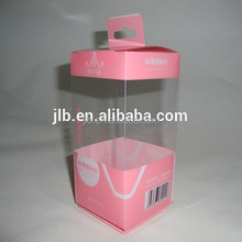 cosmetic Electric powder puff pvc plastic custom packaging box with hang