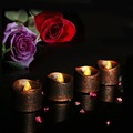 Hot Sale Battery Led Tea Light With Black Base For Wedding Party Decorate 24 pieces per set packing