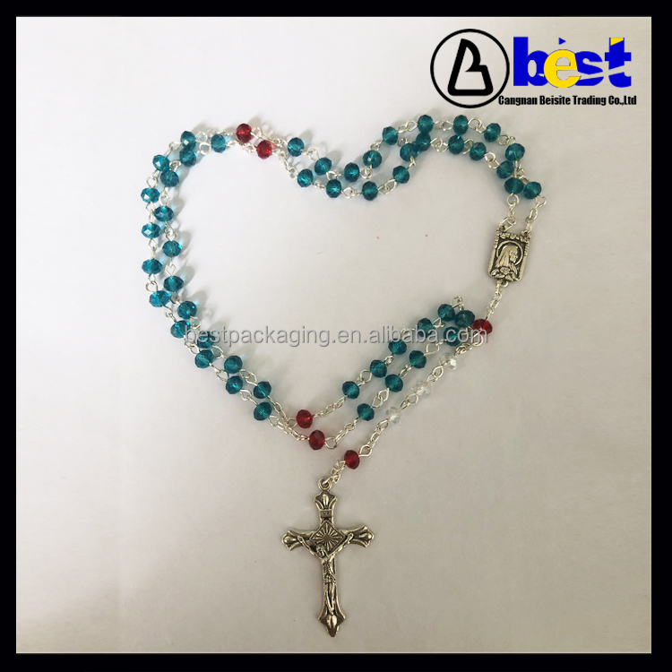 Newest Design 6mm Mix Color Crystal Rosary Making