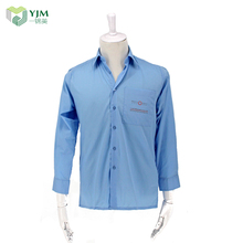 Factory wholesale cheap long sleeve blue men shirt offer free sample