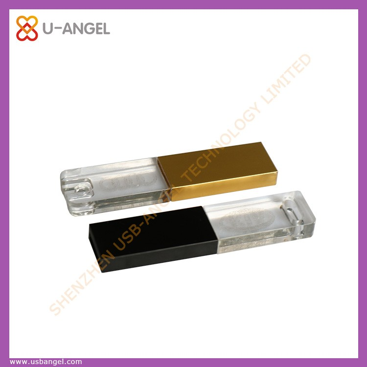 usb flash drive rechargeable led light with clip usb pen drive 4gb transparent usb disk