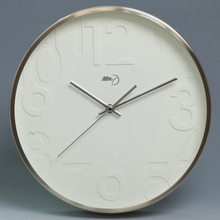 galvanized silver color modern clock wall clock decor