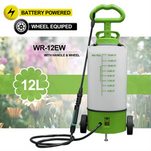 (163) 8/12L rechargeable battery operated garden weed killer sprayer on wheels