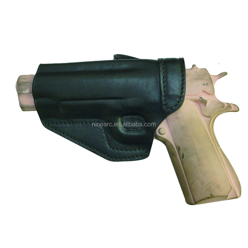 Western Leather Gun Holster with Concealed Leather Holster
