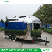 2017 Top quality bakery food cart/ food trialer/ food trailer airstream shiny
