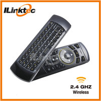 Wireless mini keyboard with IR remote control with 2 face perfect multi-language air mouse keyboard for home office using.