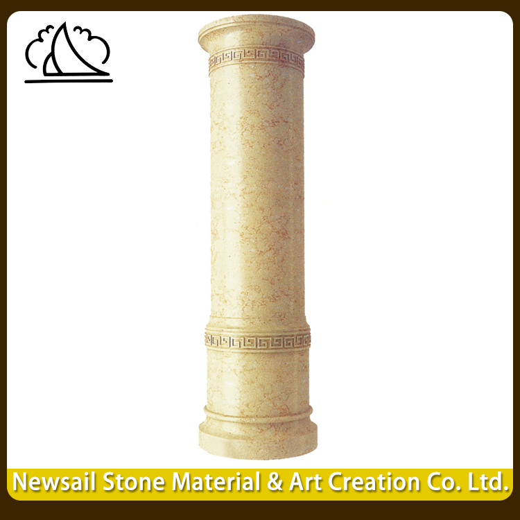 High Quality Exterior Decoration Natural Ancient Stone Pillars