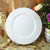 super white porcelain round flat plate/hotel porcelain paltes /white porcelain appetizer plates