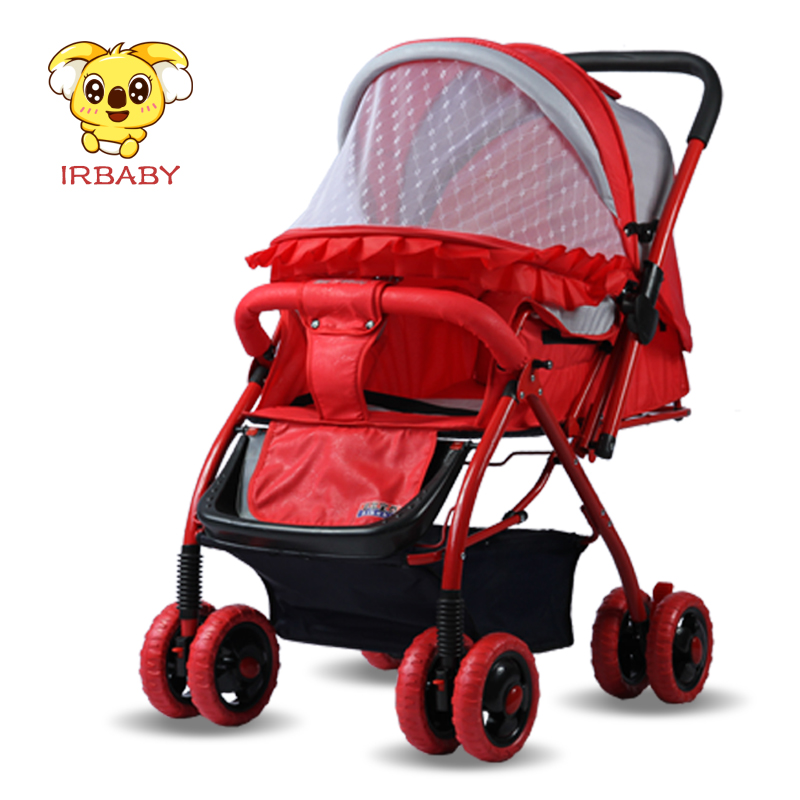 Irbaby Smart Baby Stroller Pram With Music Player and Reversible Handle One Hand Foldable Baby Pram