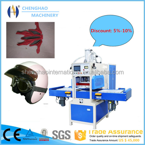 15KW high frequency embossing and cutting kids helmet Inner Pad making machine