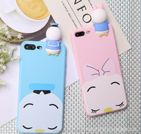 Hot sale 3D cattoon kneading phone case cartoon cute bear panda silicone full cover rubber phone case for iphone 6s 7 7plus
