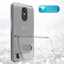 Shockproof PC TPU Material Transparent Back Cover Case for LG K10 2017