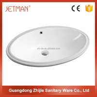 Hot Sale In North American Market Bathroom Ceramic Under Counter Washing Basins