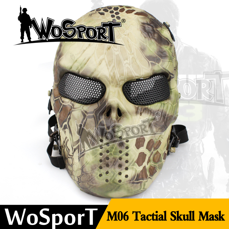Pure color ghost party paintball protection skull bandana face mask with full face