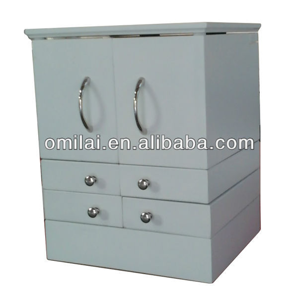 wooden jewellry storage cabinet chest with differncet cabinets inside