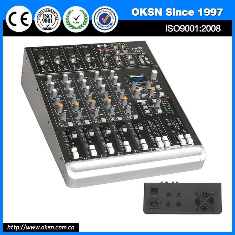 Plastic PR-6.1 allen heath audio mixer made in China