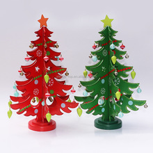 New DIY Wooden Christmas Ornaments Festival Party Xmas Tree Table Desk Decoration