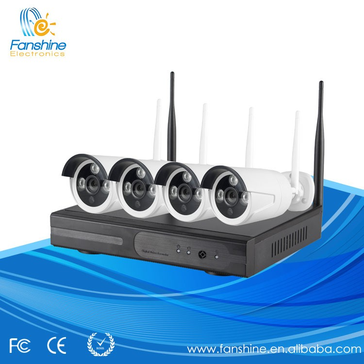 2017Hot Sell Wireless Camera WiFi IP Camera Kit 4 CH CCTV camera with NVR