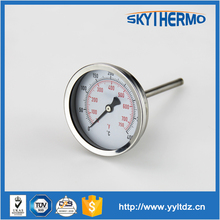stainless steel outdoor long probe fever Bi-metal Temperature Thermometer with back connection