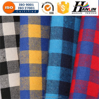 casual wear fabric / famous textile designers / flannel check fabric for pajama