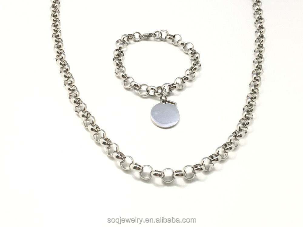 Luxury Stainless steel function and Welded Chain Structure O link chains jewelry