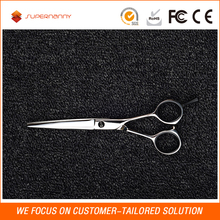 Easy to use professional straight hair dressing barber razor scissors, titanium coating hair scissor