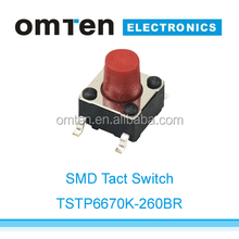push button switch,6mm SMD tactile switch same as OMRON type