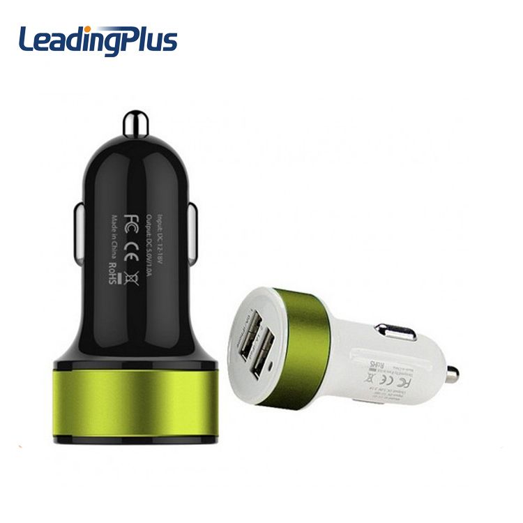 Mobile Phone Accessories Quick Charge 3.0 Portable Mobile Phone Charger , 5V2.1A Dual Usb Car Charger