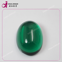 Synthetic oval shape Emerald Gemstone cabochons wholesale