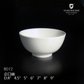 guangzhou factory wholesale hotel restaurant white round white porcelain bowl