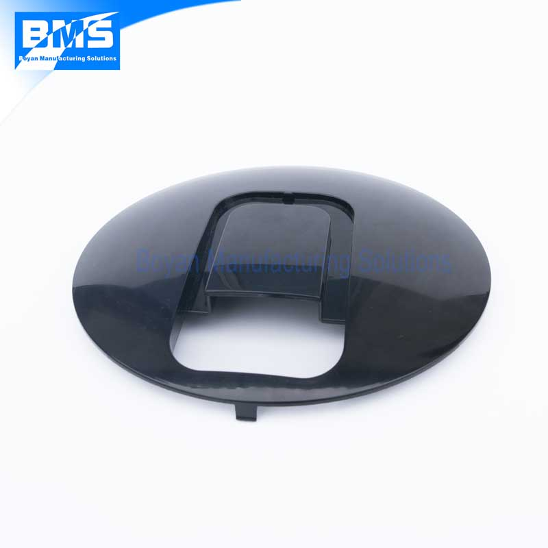 PC ABS custom plastic injection molded part of round cover