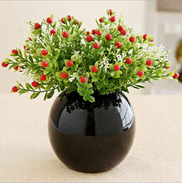 Creative Decorations Ceramic Ball Vase HY168103