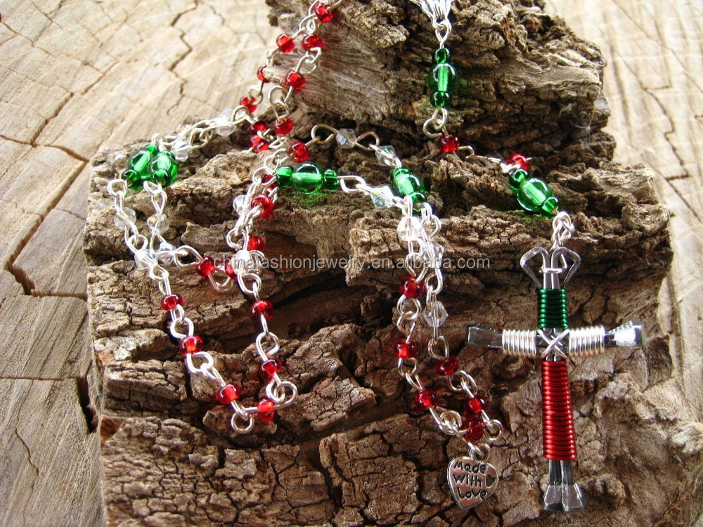 2017 Newest High Quality Catholic Rosary With Wapped Horseshoe Nails Cross
