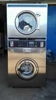 12kg stainless steel coin operated double stacked washer and dryer combo with factory price