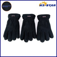 HZS-13197013 Hot sale 2015 sample black double ply women's free sample snow black protective men blue custom driving gloves
