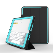 Kid Proof PC+TPU+ PU Leather Tablet Case For 9.7 Inch Tablet Cover For iPad Air 2