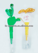finger shaped ball pen with strap