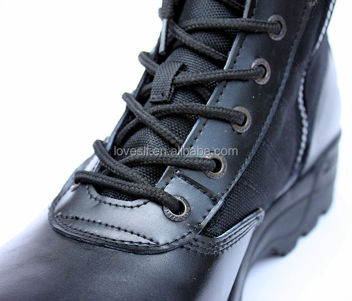 2015 high quality loveslf geniue leather custom tactical swat boots leather boots