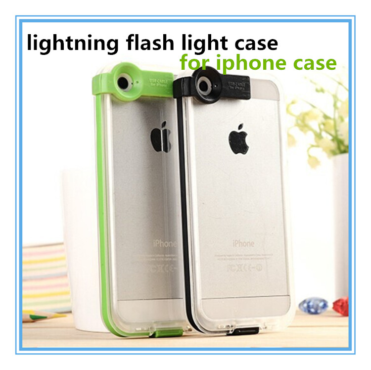 new product USB cable for iphone 5 led case,While Calling and Called flash light case for iphone 5S/ 6S PLUS