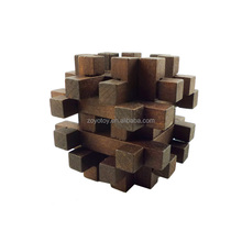 High quality Custom interlocking wooden puzzle 3D adult puzzle