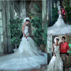 China factory hot sale sweetheart back see through beach organza wedding dresses 2015 sexy strap mermaid train wedding dress