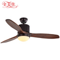 New come wall switch decorative 48'' 3 blades wood cooling air ceiling fan with light