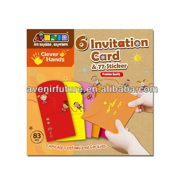 Birthday Party Supplies Colorful Folder Envelopes Nota and Invitation Kit - CH12040