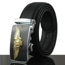 Ratchet Click Business Men Leather Belts