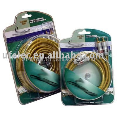 Car audio RCA cable dvd cable