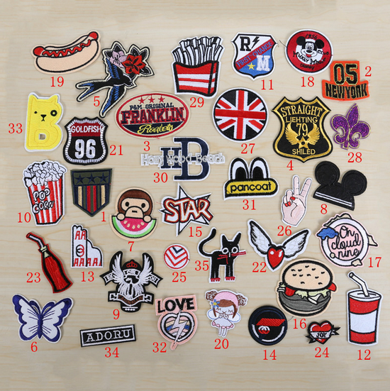 high quality fashion embroidery iron on custom animal design woven patch